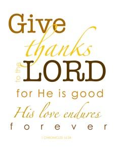 give thanks print